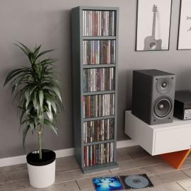 Estantería para CDs de aglomerado gris 21x16x88 cm