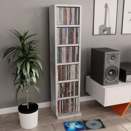 Estantería para CDs de aglomerado gris hormigón 21x16x88 cm