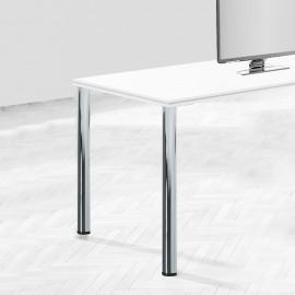 Patas para mesa, D. 60 mm, regulable 830 - 850 mm, Acero, Niquel satinado, 4 ud.