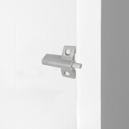 Pistón amortiguador para puerta abisagrada, cierre suave, Plástico, Gris, 10 ud.