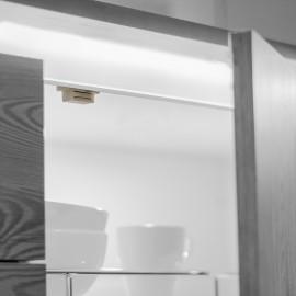 Cierre magnético para puertas, Acero y plástico, Blanco, 20 ud.