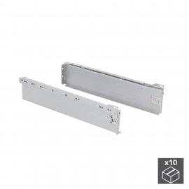Kit cajón de cocina Ultrabox, altura 86 mm, prof. 350 mm, Acero, Gris metalizado, 10 ud.