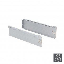 Kit cajón de cocina Ultrabox, altura 150 mm, prof. 350 mm, Acero, Gris metalizado, 10 ud.