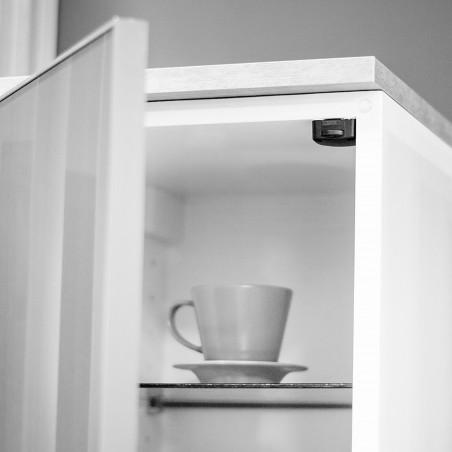Interruptor para puerta armario, Plástico, Negro, 10 ud.