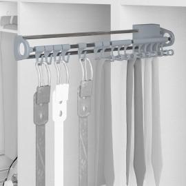 corbatero lateral extraible, Acero y plástico, Gris metalizado