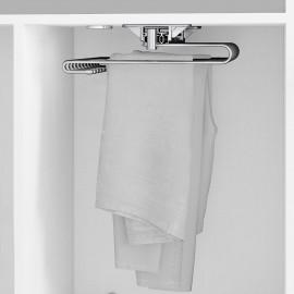 Pantalonero extraible para armario, 470 mm, 11 varillas, Acero, Cromado
