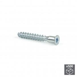 Tornillo autorroscante, cabeza plana Allen, D. 7 mm, 50 mm, Acero, Cincado, 500 ud.