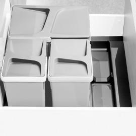 Base para contenedores cajón cocina, módulo 600 mm, Plástico, Gris antracita