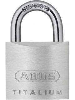Candado Seguridad  60Mm Arco Corto Llaves Iguales Aluminio Titalium Abus
