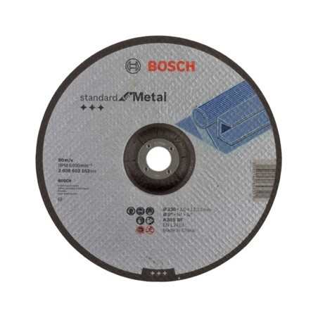 Disco Corte Metal Concavo 230X3X22,23Mm Bosch