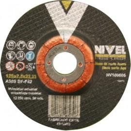Disco Corte Metal 125X2,5X22 Mm Nivel