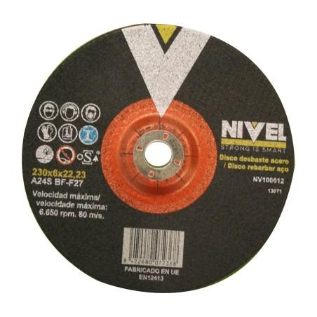 Disco Desbaste Metal 230X6X22 Mm Nivel