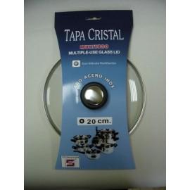 Tapa Bateria Cocina 20Cm Valvula Ventilacion Aro Inox-Cristal Tecnhogar