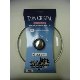 Tapa Bateria Cocina 22Cm Valvula Ventilacion Aro Inox-Cristal Tecnhogar