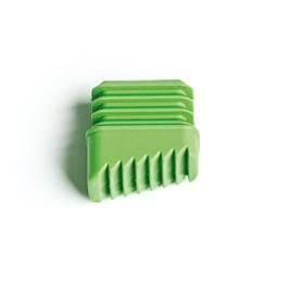 Contera Escalera  Rectangular Plastico Verde Vivah 4 Pz