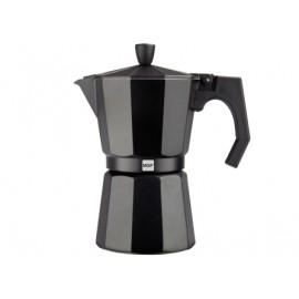 Cafetera Italiana 09Tazas Aluminio Negro Kenia Noir Magefesa
