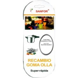 Goma Olla Presion  22Cm Super Rapida Silicona  Blanco Fagor Sanfor