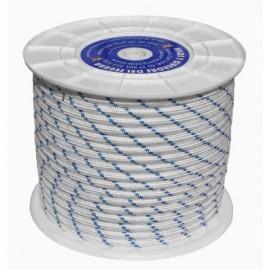 Cuerda Trenzada  10Mm Nylon Blanco/Azul Tipo Driza Hyc 100 Mt