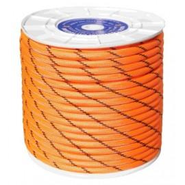 Cuerda Trenzada  12Mm Nylon Naranja/Negro Doble  Escalada Hyc 100 Mt
