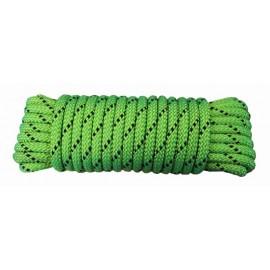 Cuerda Trenzada  06Mm Nylon Verde/Negro Doble  Escalada Hyc 10 Mt