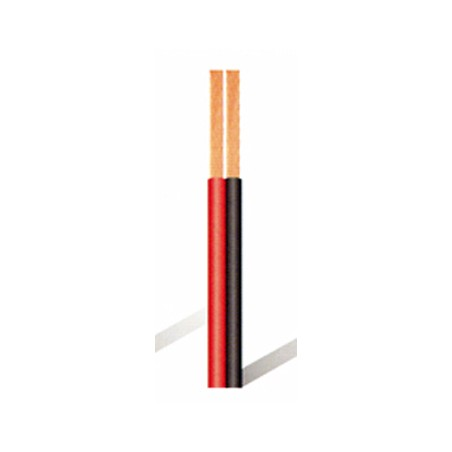 Cable Multimedia 2X0,75Mm 100Mt Paralelo Lazsa Rojo/Negro Bicolor