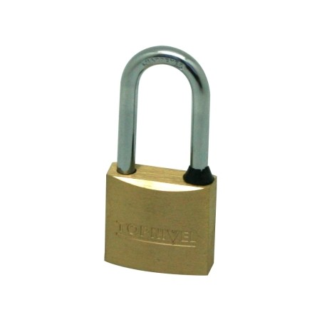 Candado Seguridad  30Mm Arco Largo Laton  Nivel