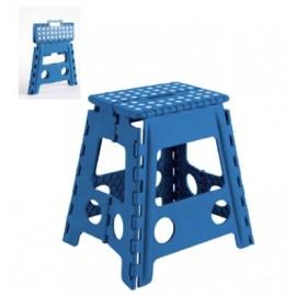 Taburete Plegable Plastico 290X390X220Mm Max.150Kg Azul
