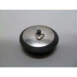 Tapon Baño Con Embellecedor 44Mm Goma/Chapa Negro/Inox S M