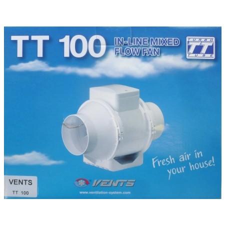 Extractor En Linea 100Mm Plastico Blanco Tt S M