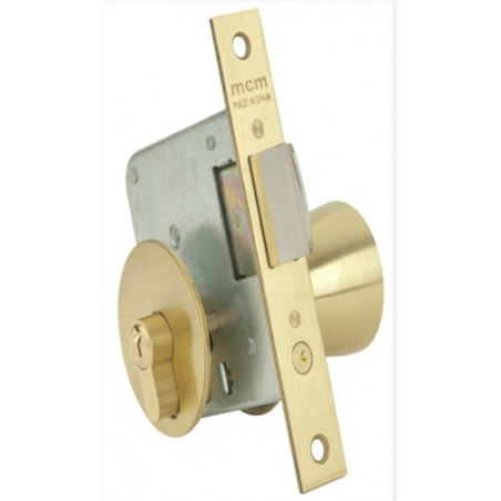 Cerradura Madera Embutir  22X60Mm 1561/3-60 Laton Pomo Canto Cuadrado Mcm