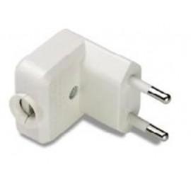 Clavija Electricidad  36X53X38 10A-250V  Pvc Blanco Famat
