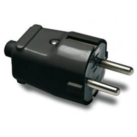 Clavija Electricidad  4,8Mm/36X70X36 16A-250V Tt Policarbonato Negro  Famat
