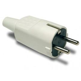 Clavija Electricidad  4,8Mm/30X97X37 16A-250V Tt Pvc Blanco Famat
