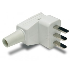Clavija Electricidad  53X94X82 25A-250V Tt Policarbonato Blanco Famat