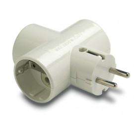 Adaptador Electricidad 79X102X43 Tt 16A-250V Triple Ceramica/Policarbonato Blanco Famat