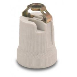 Portalamparas Electricidad 41X65X41 M10X100 E27 Ceramico Gris