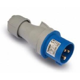 Clavija Cetac Electricidad 32A/220-240V 2P+T Poliamida/Abs Azul Famat