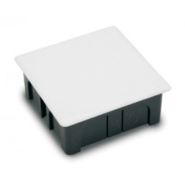 Caja Electricidad 100X100X45 Empotrar Famat Abs/Poliestireno  Negro Con Garras 3201
