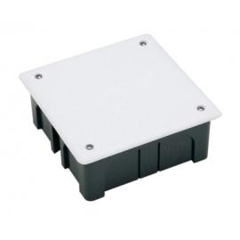 Caja Electricidad 100X100X45 Empotrar Famat Abs/Poliestireno  Negro Con Tornillos 3201