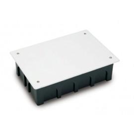 Caja Electricidad 160X100X50 Empotrar Famat Abs/Poliestireno  Negro Con Tornillos 3202