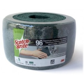 Estropajo Limpieza 6Mx134Mm Fibra Verde Rollo Scotch Brite 3M