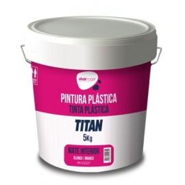 Pintura Plastica Mate 5 Kg Blanco Interior Vivahogar Vivah