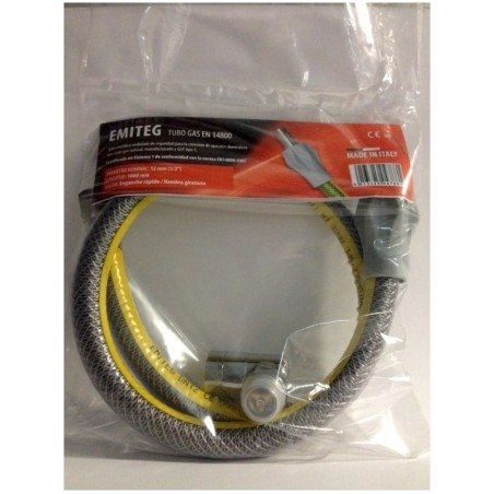 """Tubo Conductor Gas 1Mt-1/2"""" Coc/Enc Flexible V/Seg Inox Emiteg"""