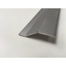 Pletina Perfilada 83Cm Distinto Nivel Adhesivo Aluminio Plata Ceramico