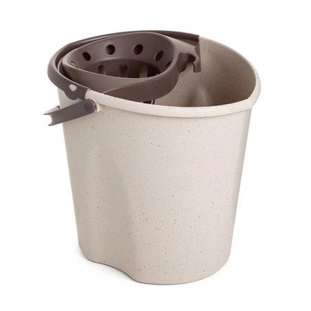 Cubo Agua Con Escurridor Tatay Polipropileno Gris Eco Oval 1104106