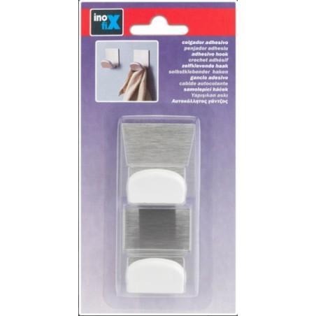 Colgador Hogar 45X40X30Mm Adhesivo Mini plastico Blanco Inofix 2 Pz