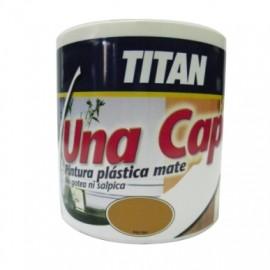 Pintura Plastica Mate 750 Ml Negro Interior Mono Una Capa Titan