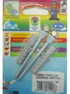 Tornillo Baño Sujecion Bidet Inodoro S M Inox 320286 2 Pz