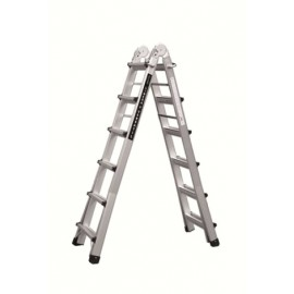 Escalera Industrial Multiusos Tijera 6,26Mt 12+12 Telescopica  Aluminio  Codiven