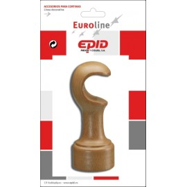 Soporte Barra Cortina 29Mm Frontal Madera Nat Epid
